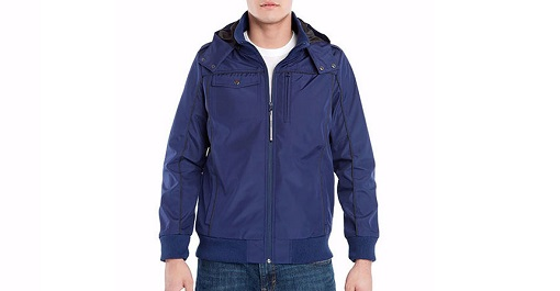 BAUBAX Men's Blue Bomber Jacket