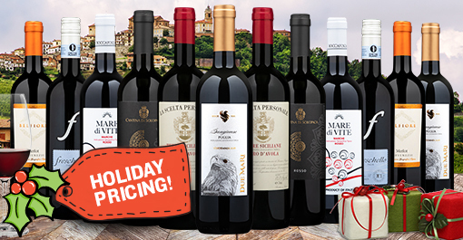 12 Bottles of Italian Red Wine + $50 Restaurant.com eGift Card
