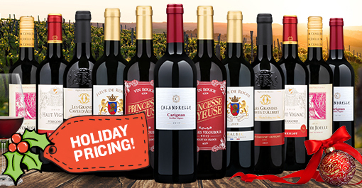12 Bottles of French Red Wine + $50 Restaurant.com eGift Card
