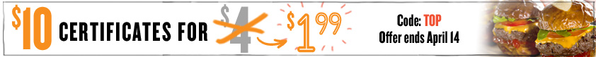 $10 Certificates for $1.99