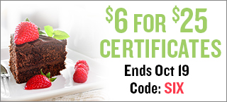 $6 for $25 Certificates