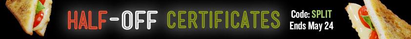 Half-Off Certificates
